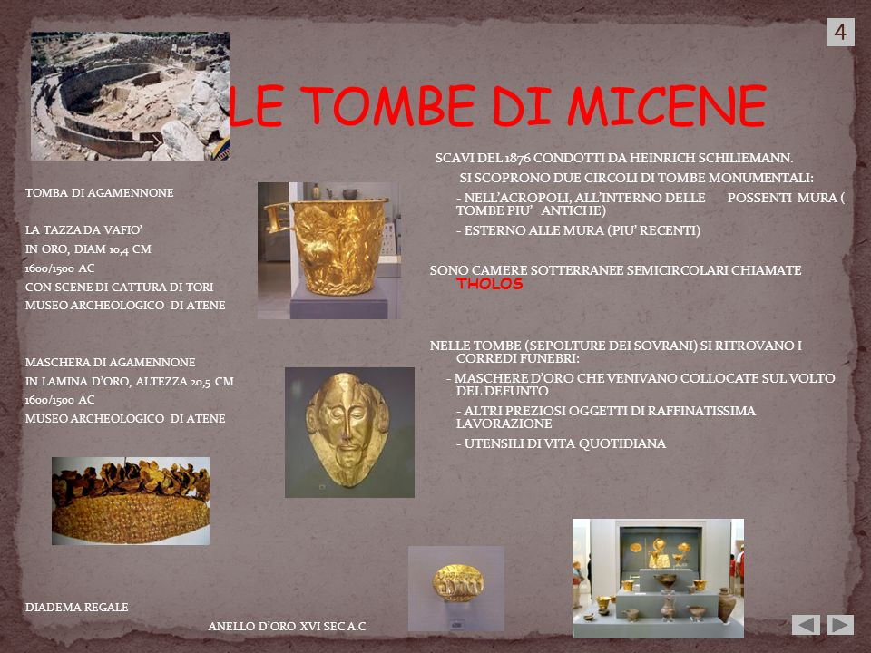 LE TOMBE DI MICENE 4 SI SCOPRONO DUE CIRCOLI DI TOMBE MONUMENTALI: