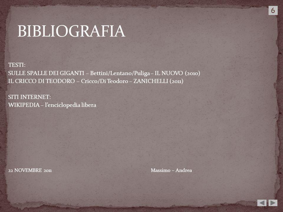 BIBLIOGRAFIA6. TESTI: SULLE SPALLE DEI GIGANTI – Bettini/Lentano/Puliga – IL NUOVO (2010)