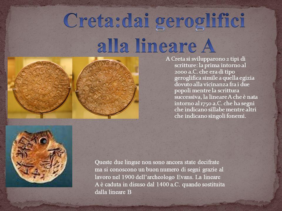 Creta:dai geroglifici