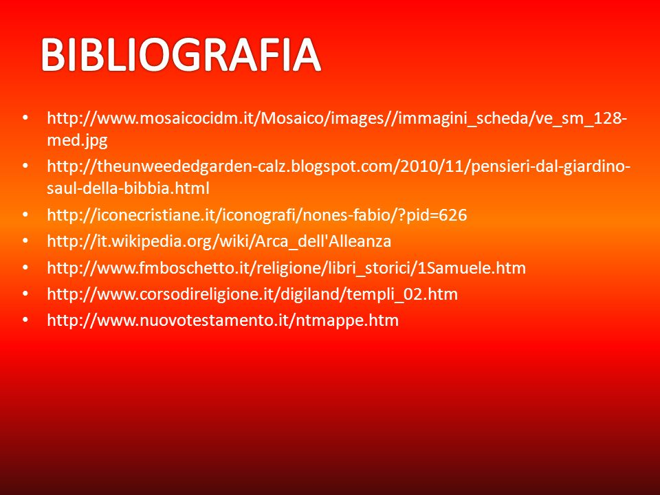 BIBLIOGRAFIA http://www.mosaicocidm.it/Mosaico/images//immagini_scheda/ve_sm_128-med.jpg.