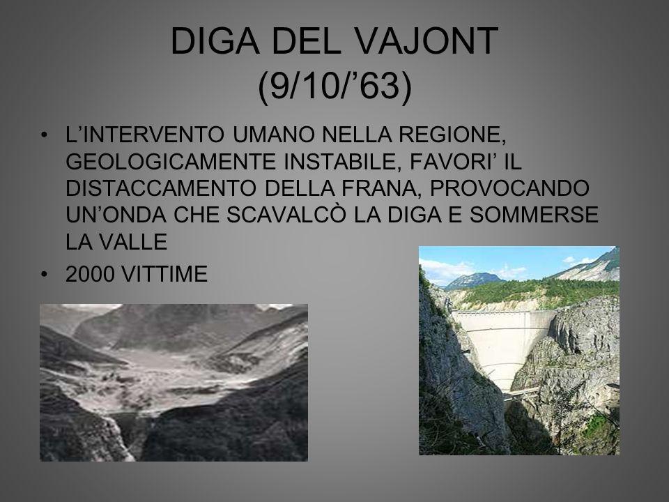 DIGA DEL VAJONT (9/10/'63)