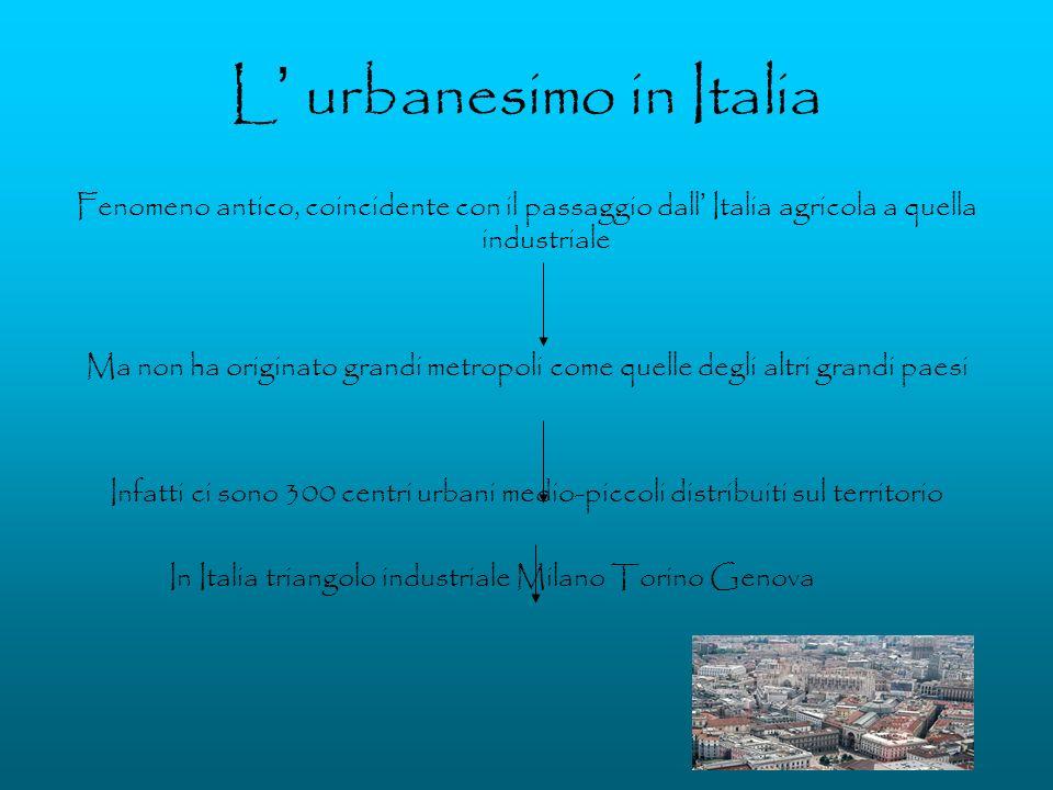 L' urbanesimo in Italia