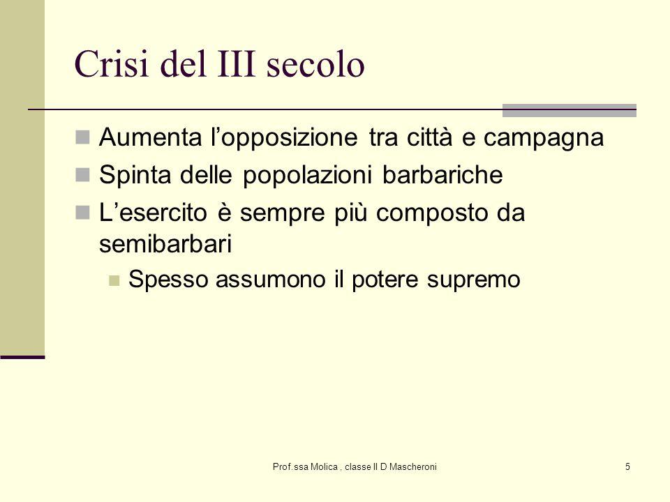 Prof.ssa Molica , classe II D Mascheroni