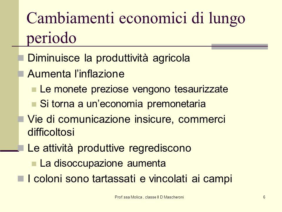 Cambiamenti economici di lungo periodo