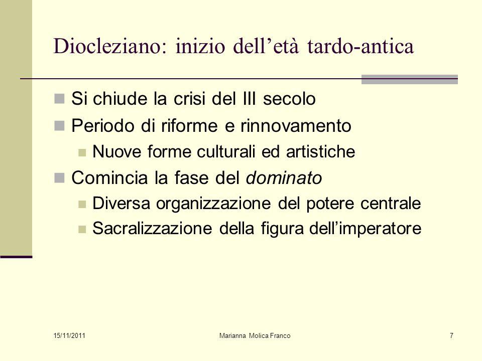 Diocleziano: inizio dell'età tardo-antica