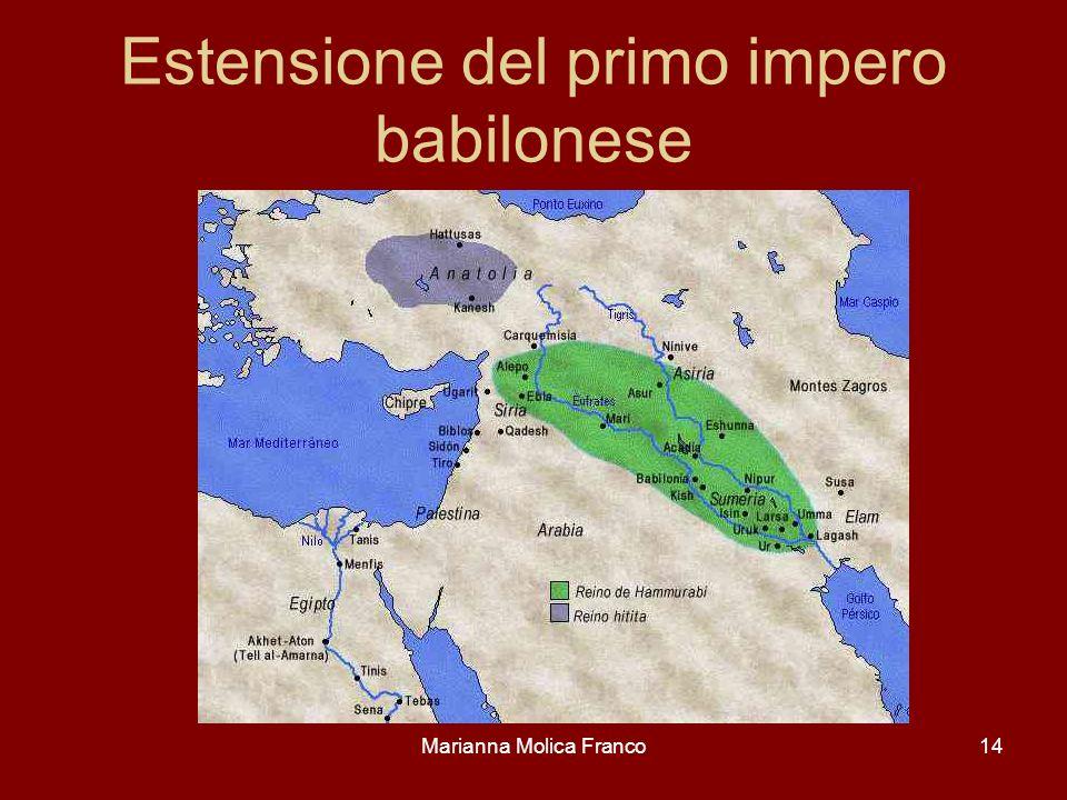 Estensione del primo impero babilonese
