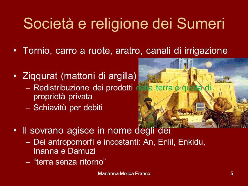 Società e religione dei Sumeri