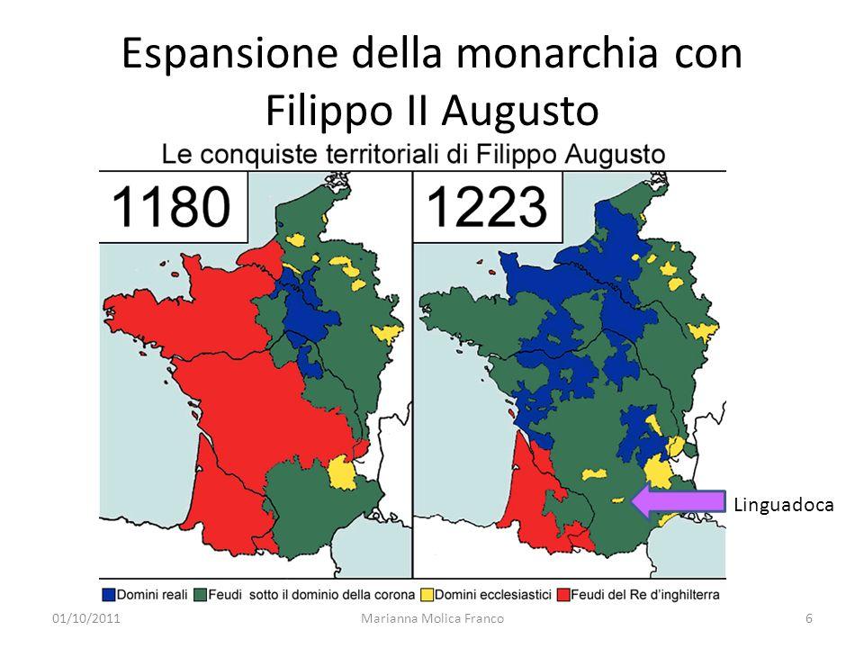Espansione della monarchia con Filippo II Augusto