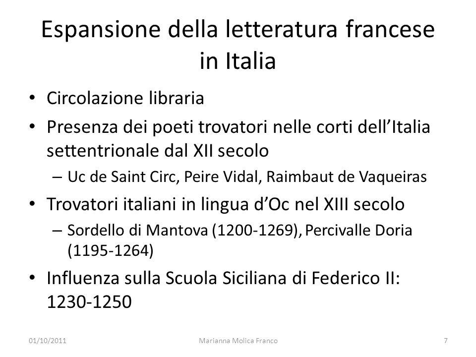 Espansione della letteratura francese in Italia