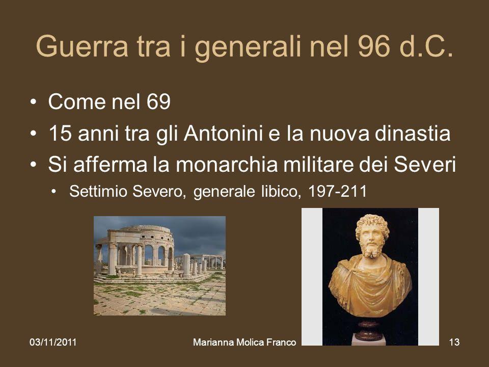 Guerra tra i generali nel 96 d.C.