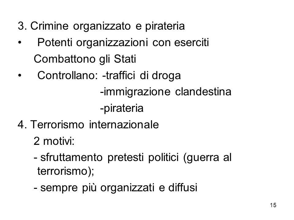 3. Crimine organizzato e pirateria