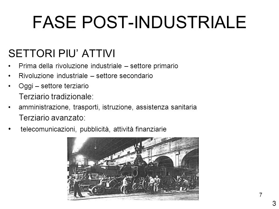 FASE POST-INDUSTRIALE