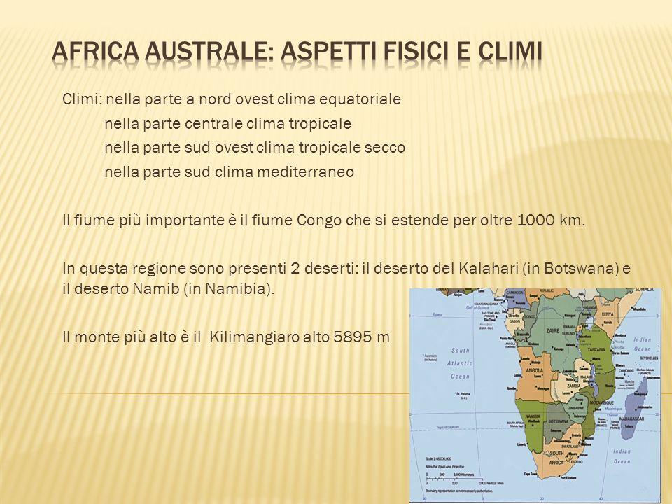 Africa Australe: Aspetti Fisici e Climi
