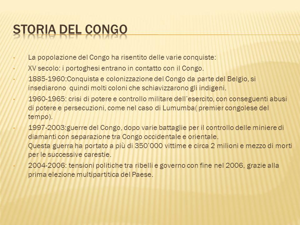 Storia Del Congo La popolazione del Congo ha risentito delle varie conquiste: XV secolo: i portoghesi entrano in contatto con il Congo.
