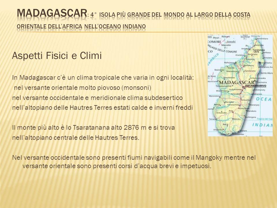 Madagascar: 4° isola più grande del mondo al largo della costa orientale dell'Africa nell'oceano indiano
