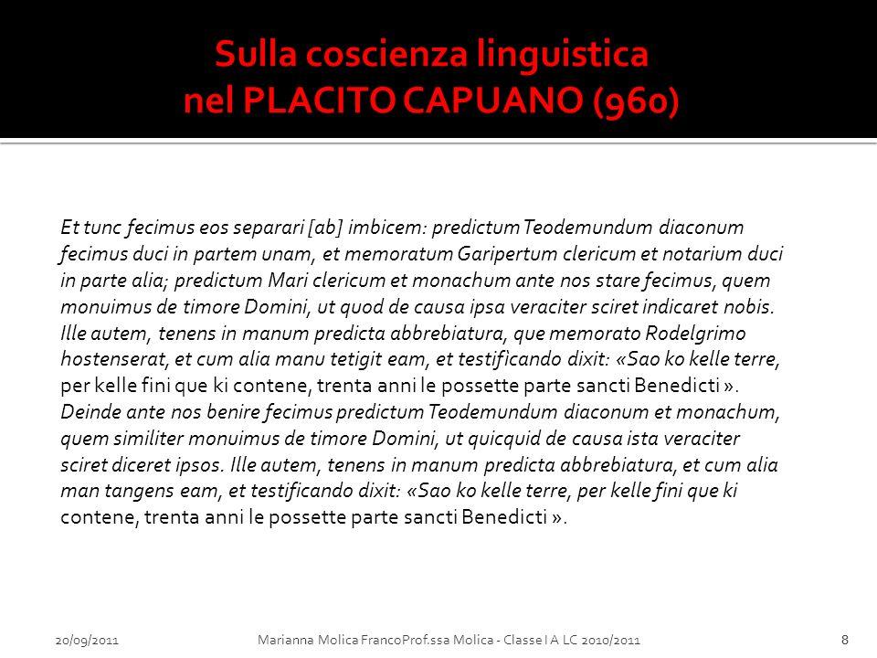 Sulla coscienza linguistica
