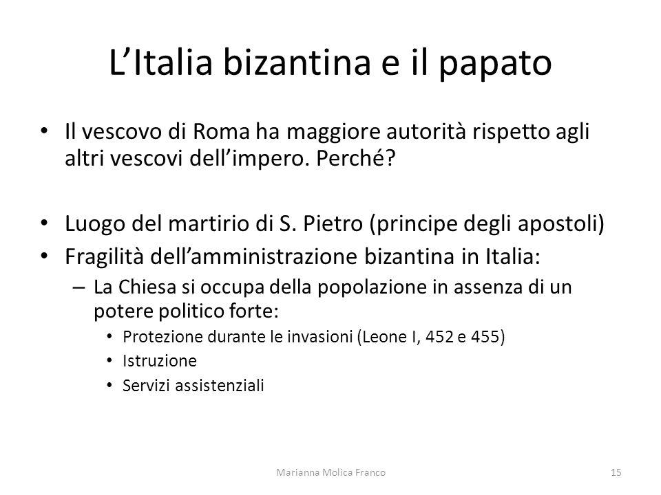 L'Italia bizantina e il papato