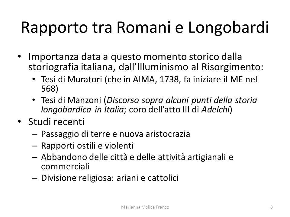 Rapporto tra Romani e Longobardi