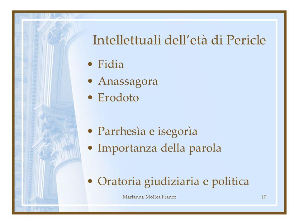Intellettuali dell'età di Pericle