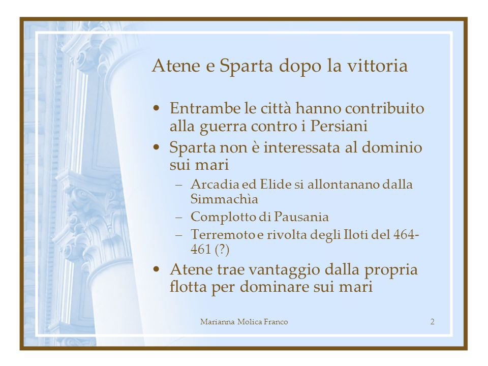 Atene e Sparta dopo la vittoria