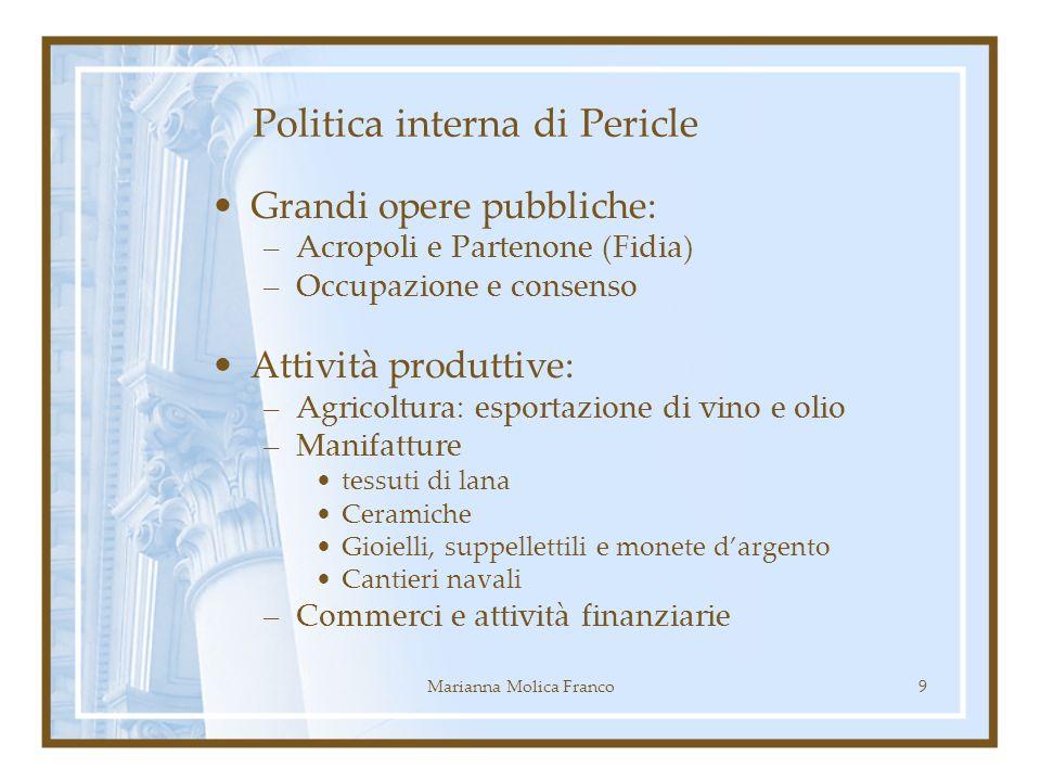 Politica interna di Pericle