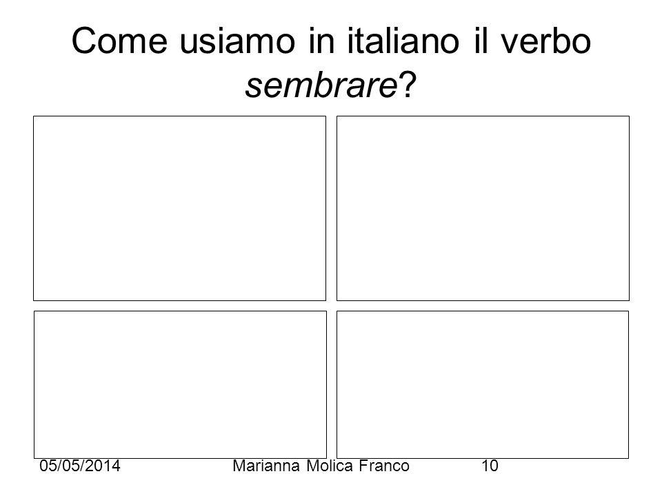 Come usiamo in italiano il verbo sembrare