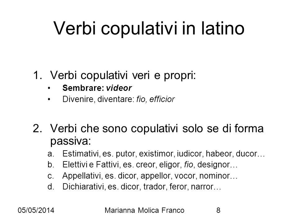 Verbi copulativi in latino