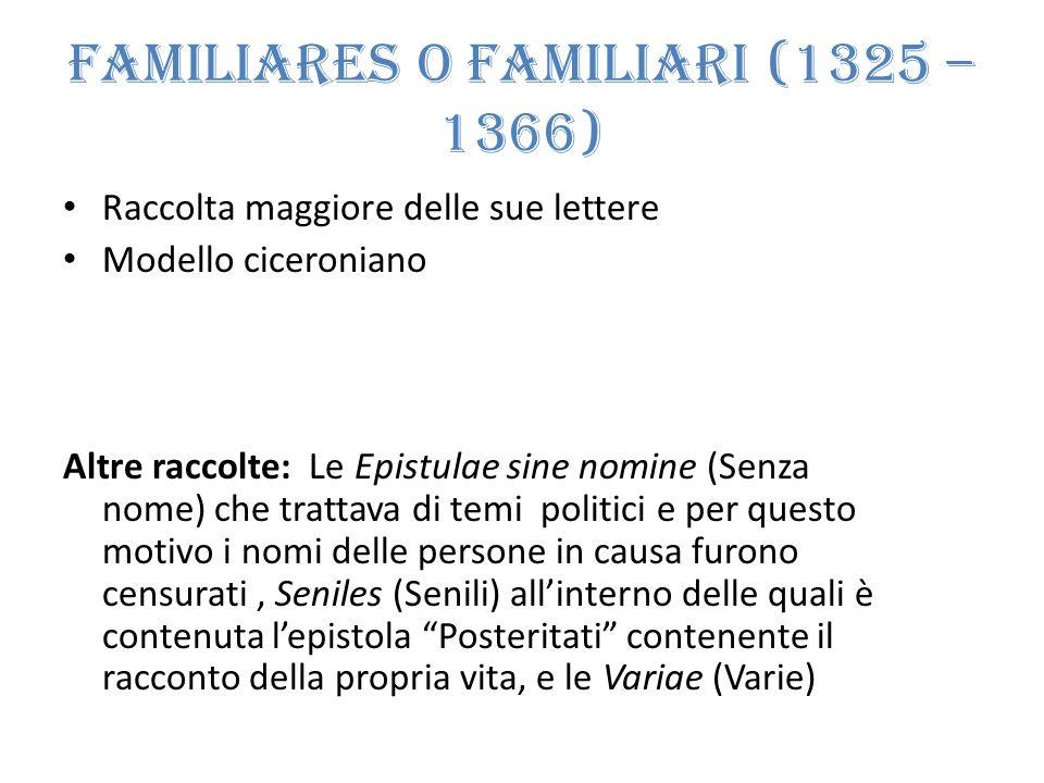 Familiares o Familiari (1325 – 1366)