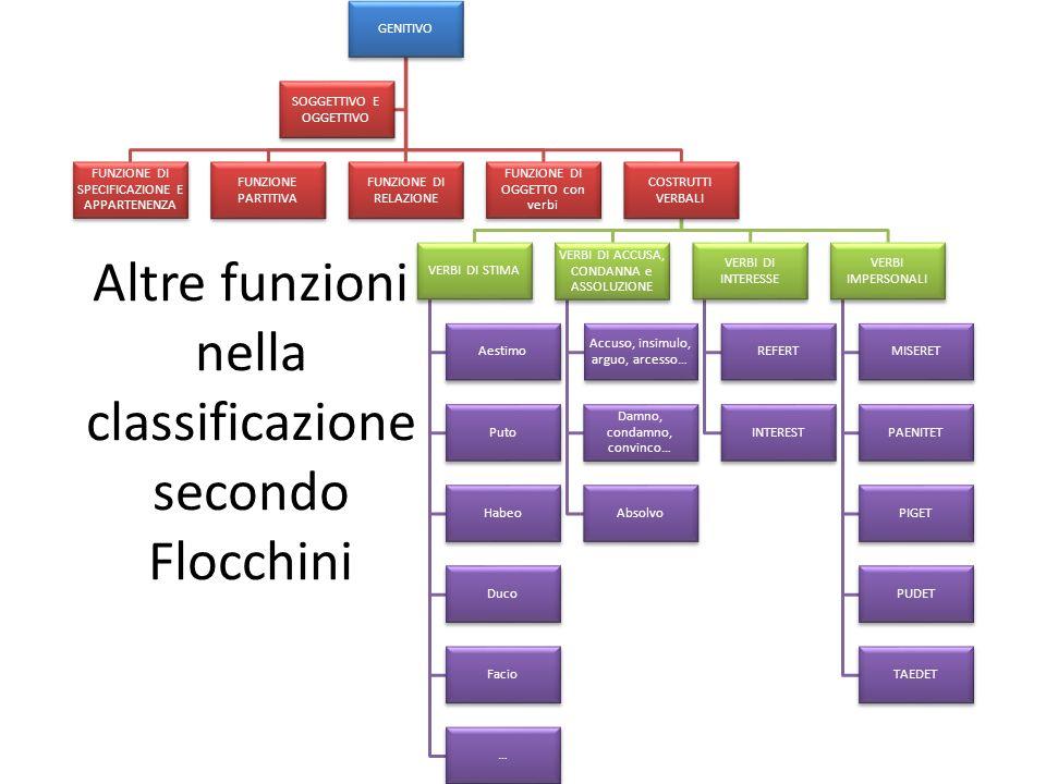 Altre funzioni nella classificazione secondo Flocchini