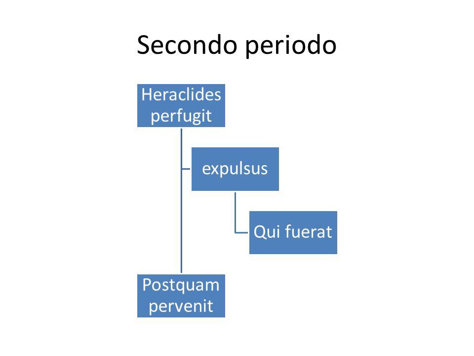 Secondo periodo Heraclides perfugit expulsus Qui fuerat