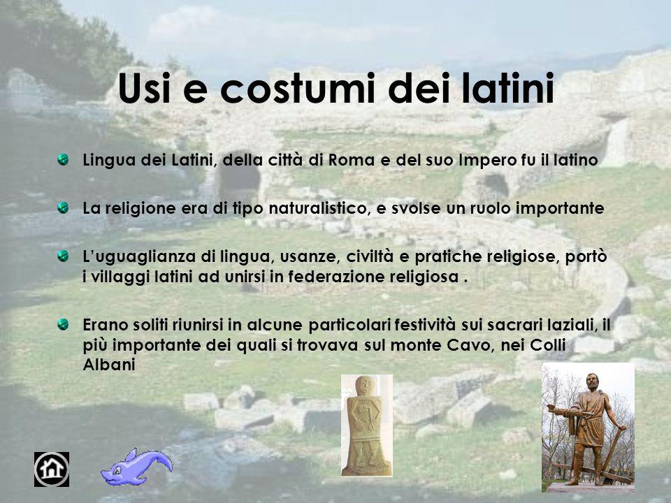 Usi e costumi dei latini
