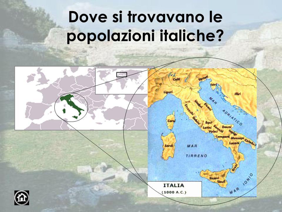 Dove si trovavano le popolazioni italiche