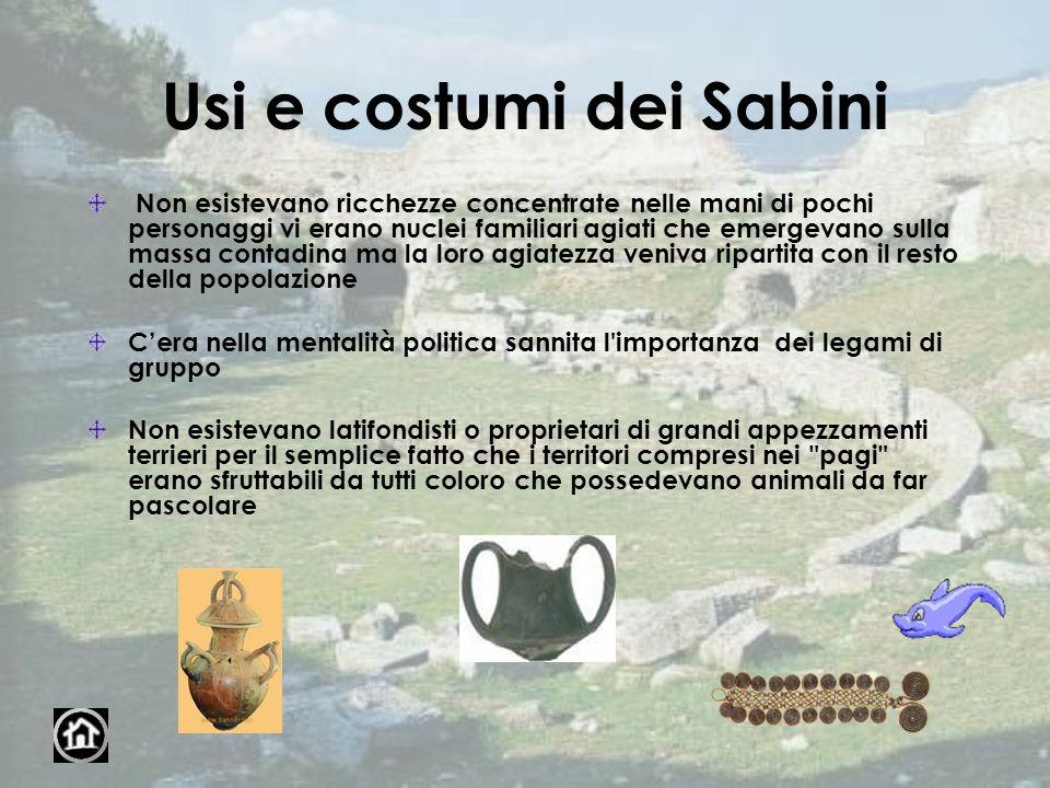 Usi e costumi dei Sabini