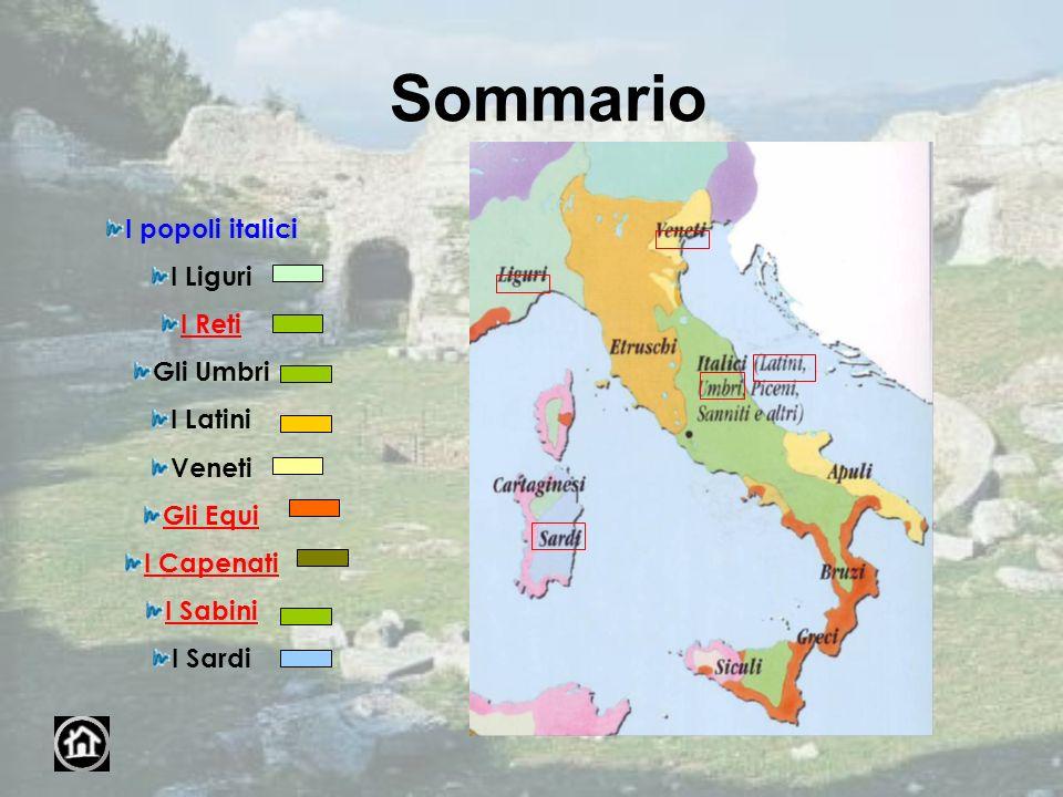 Sommario I popoli italici I Liguri I Reti Gli Umbri I Latini Veneti