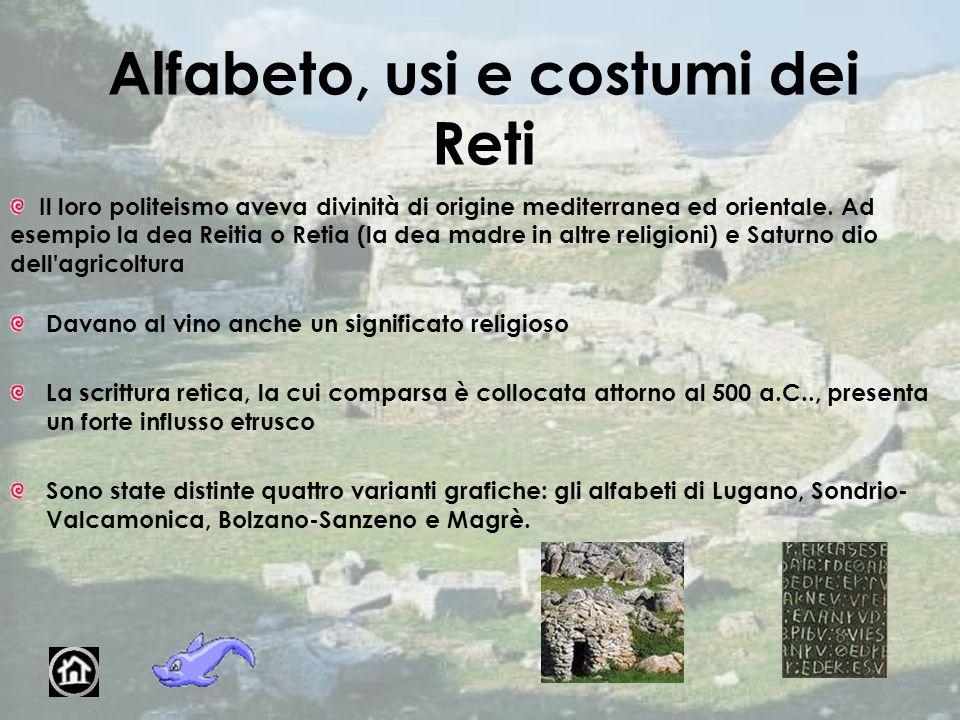 Alfabeto, usi e costumi dei Reti