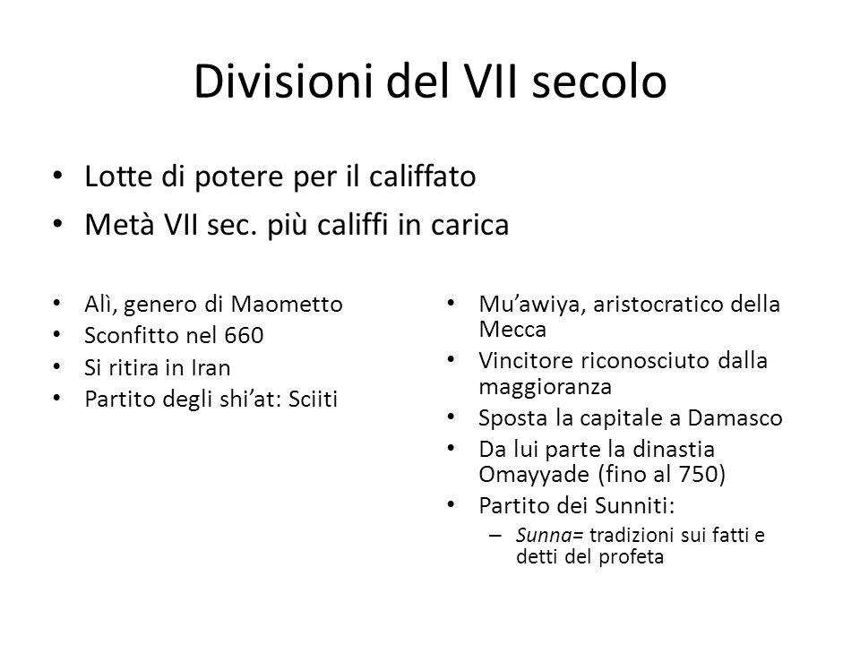 Divisioni del VII secolo