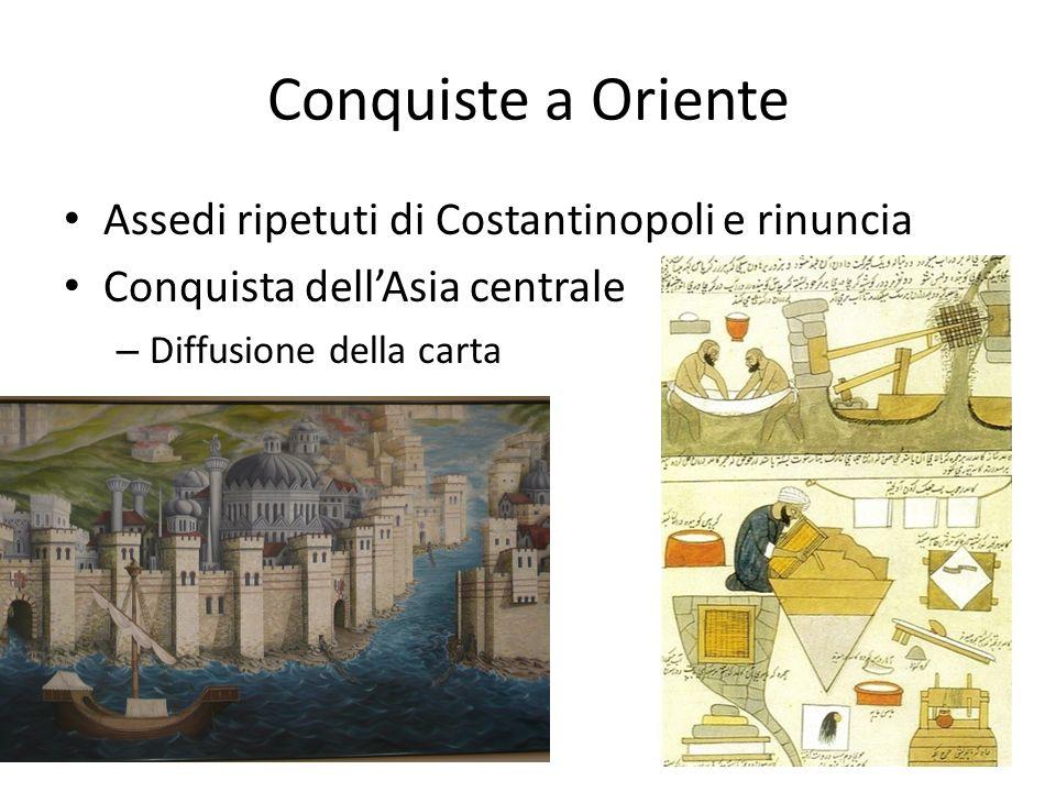 Conquiste a Oriente Assedi ripetuti di Costantinopoli e rinuncia