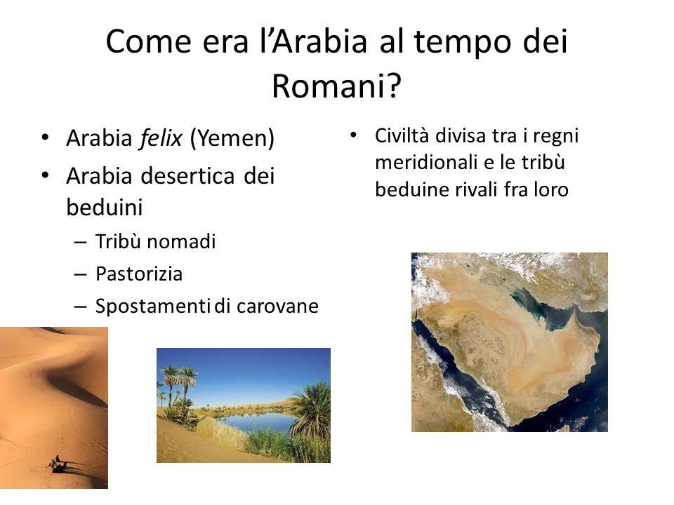 Come era l'Arabia al tempo dei Romani