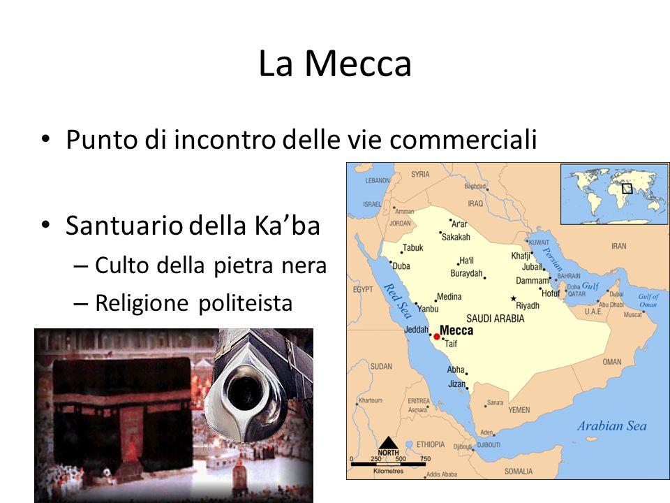 La Mecca Punto di incontro delle vie commerciali Santuario della Ka'ba