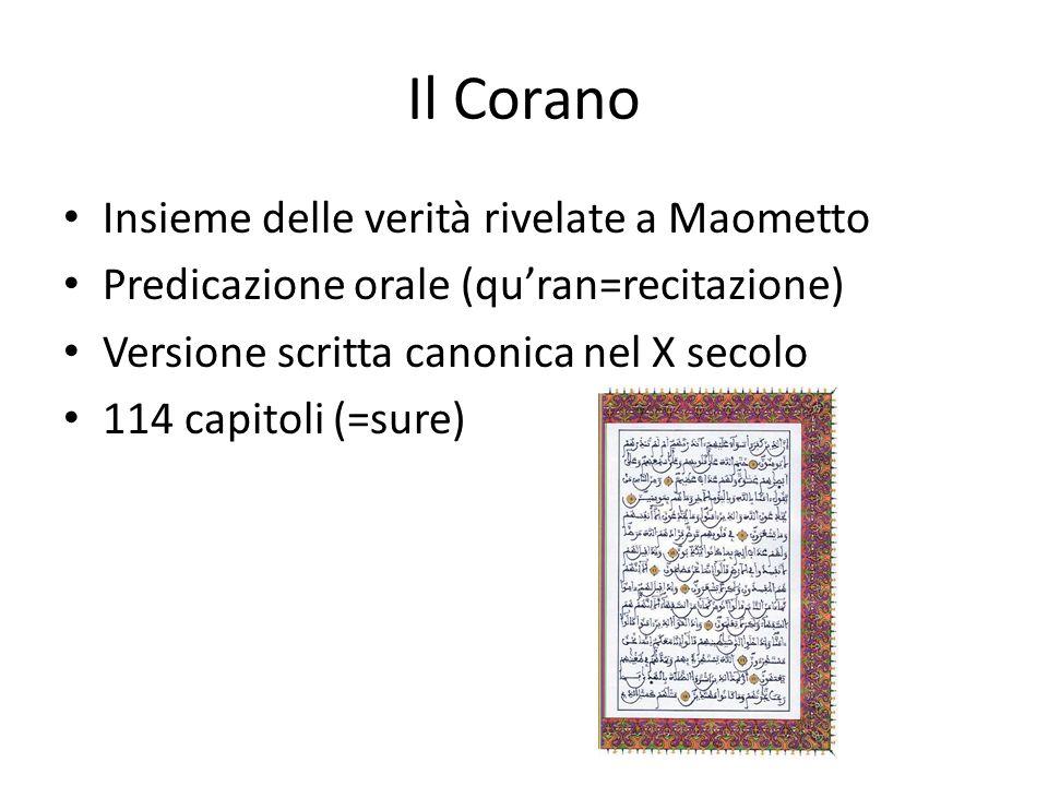 Il Corano Insieme delle verità rivelate a Maometto