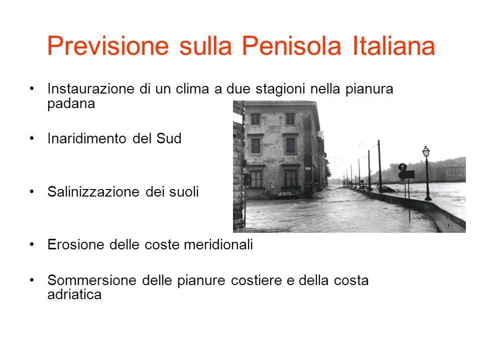 Previsione sulla Penisola Italiana