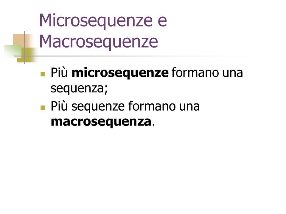Microsequenze e Macrosequenze