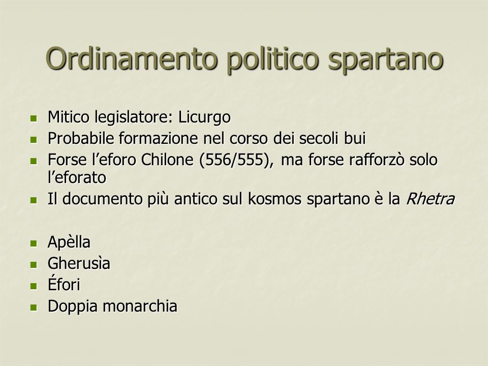 Ordinamento politico spartano
