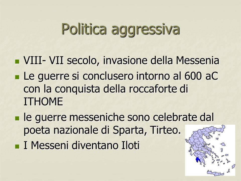 Politica aggressiva VIII- VII secolo, invasione della Messenia