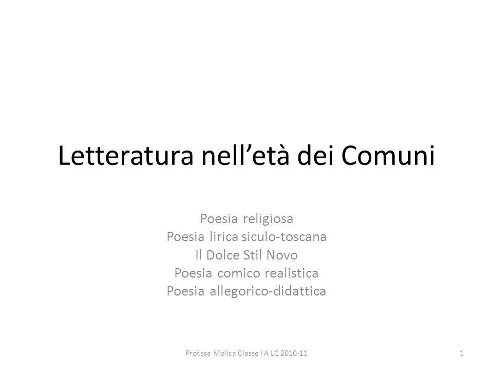 Letteratura nell'età dei Comuni