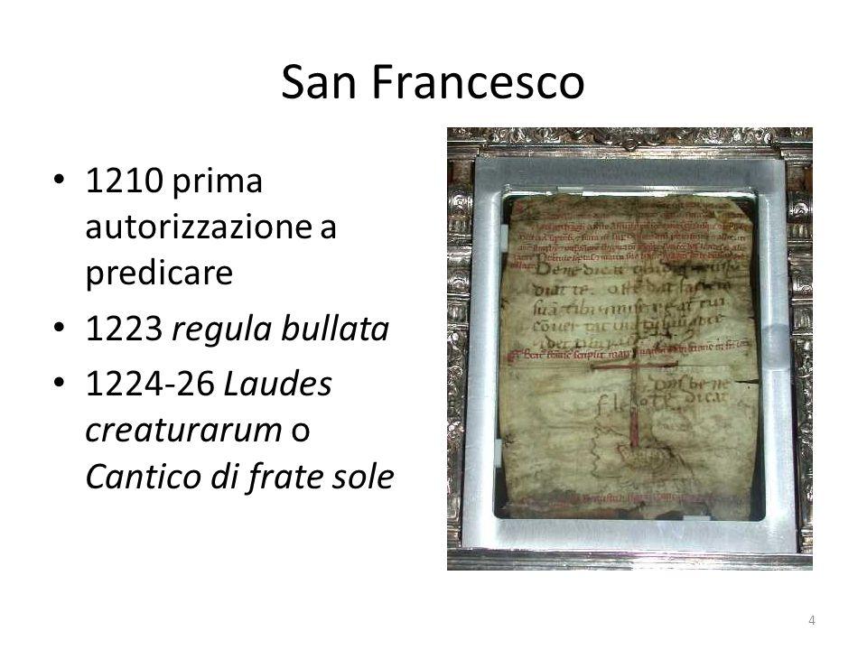 San Francesco 1210 prima autorizzazione a predicare