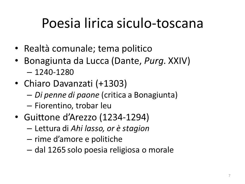 Poesia lirica siculo-toscana