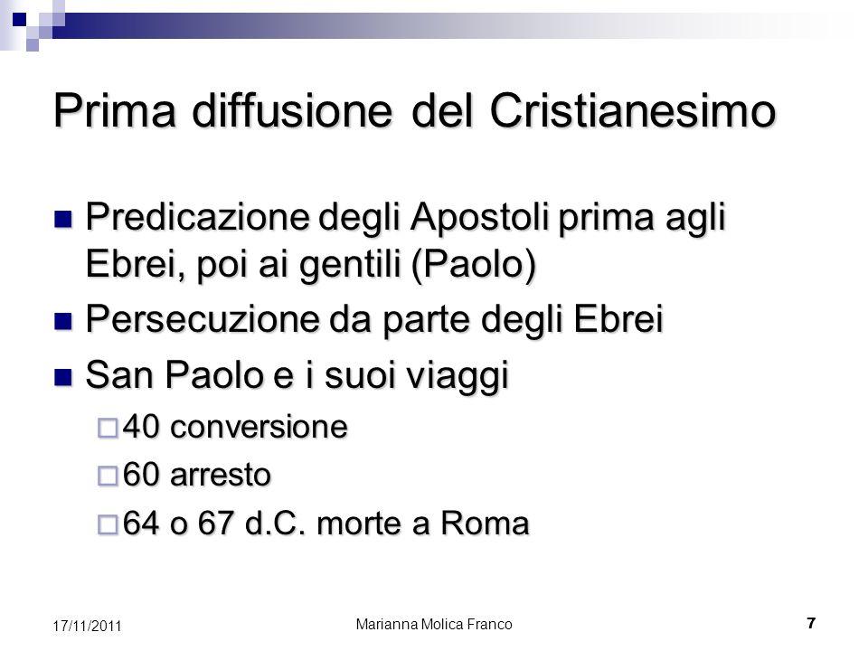 Prima diffusione del Cristianesimo
