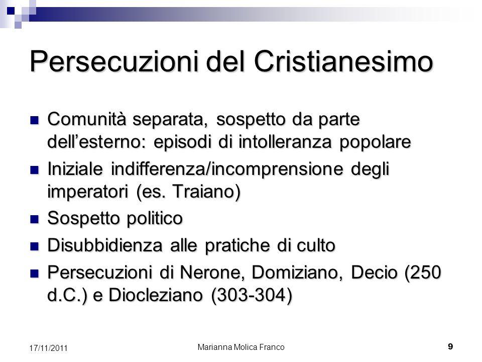 Persecuzioni del Cristianesimo