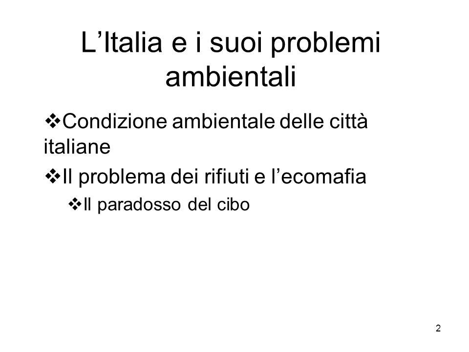 L'Italia e i suoi problemi ambientali